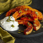 Oven-Roasted Butternut Squash with Vegan Coconut-Lime Sour Cream