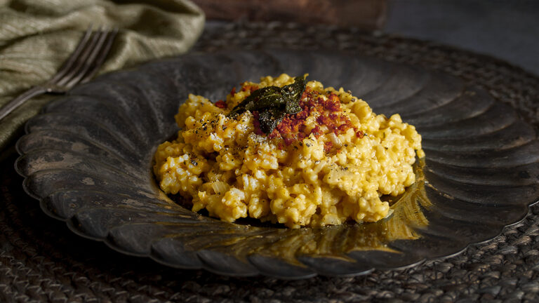 Vegan Risotto with Butternut Squash