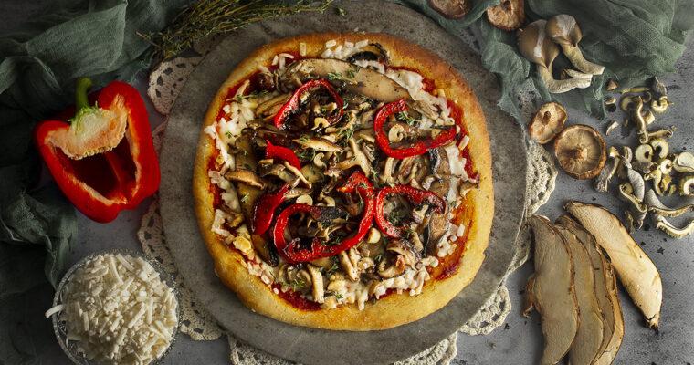 Vegan 3-Mushroom Pizza Toppings