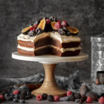 Gluten-Free & Vegan Chocolate Beetroot Cake with Coconut Whipped Cream
