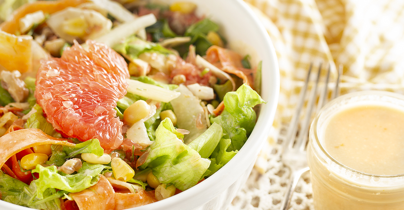 Carrot & Fennel Salad with Creamy Grapefruit Dressing